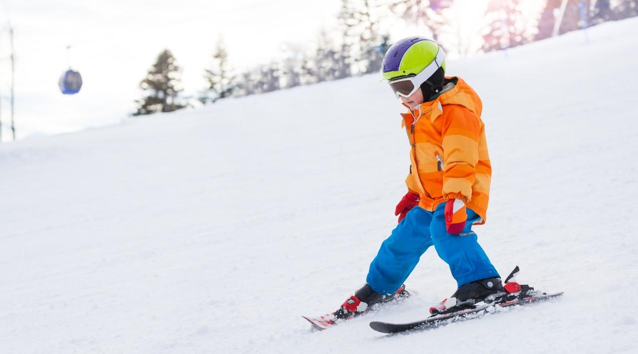 Výuka lyžování přes pluh