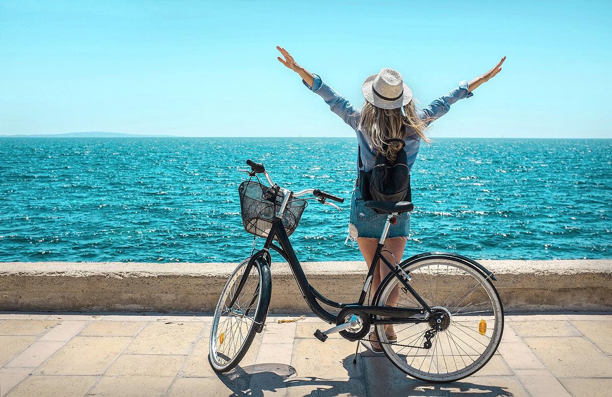 U moře na kole
