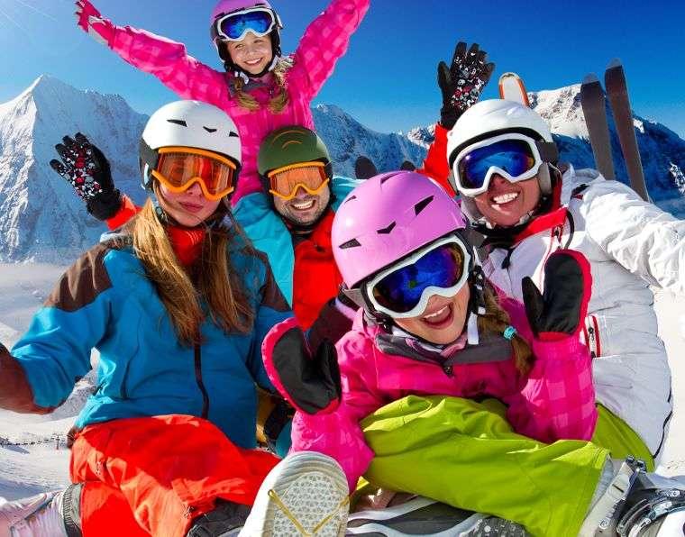 Rodinná dovolená na lyžích