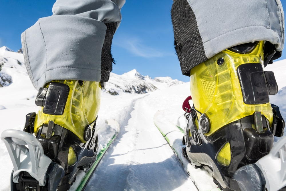 Close up of skier's boots and skies from unusual angle.jpg