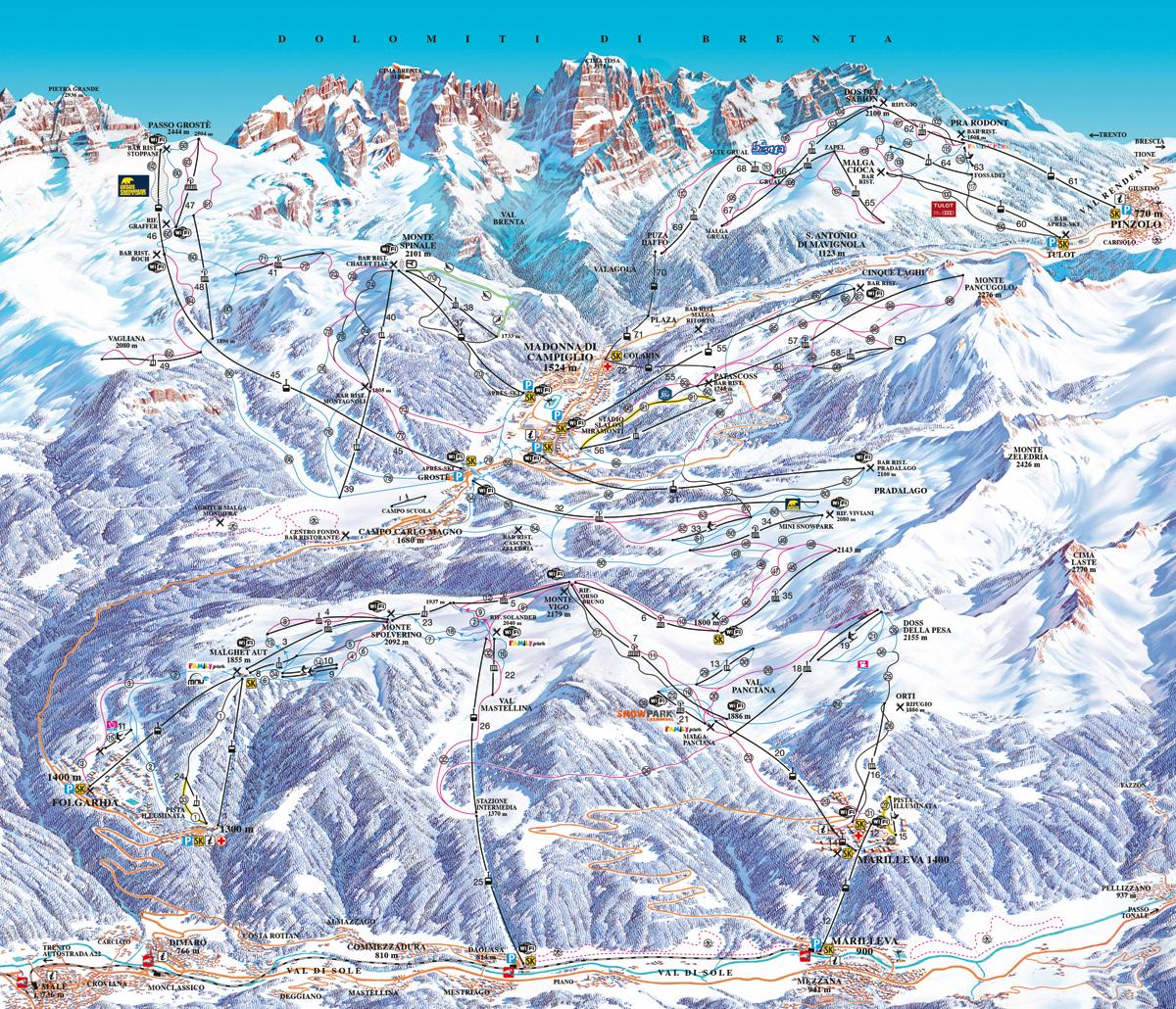 Marilleva / Folgarida - Skirama Dolomiti Adamello Brenta