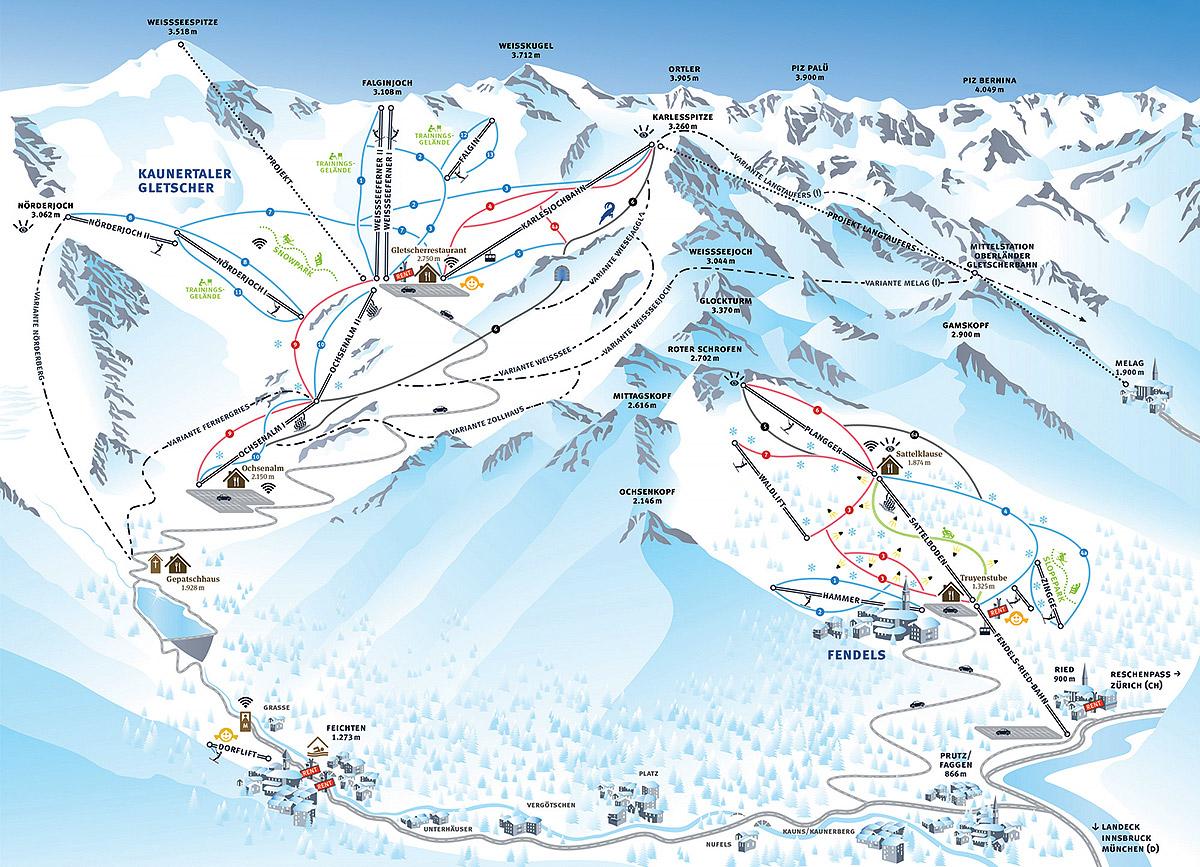 Kaunertaler Gletscher - Tyrolsko