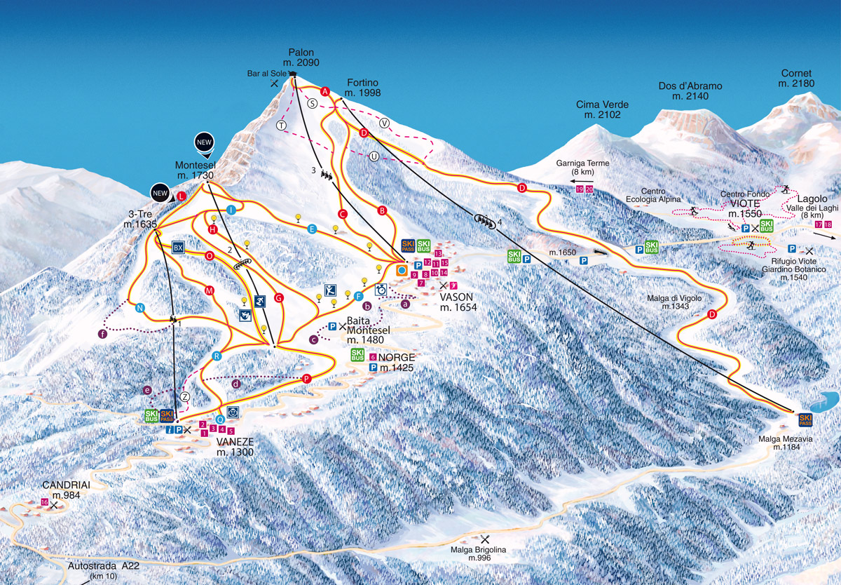Monte Bondone - Skirama Dolomiti Adamello Brenta
