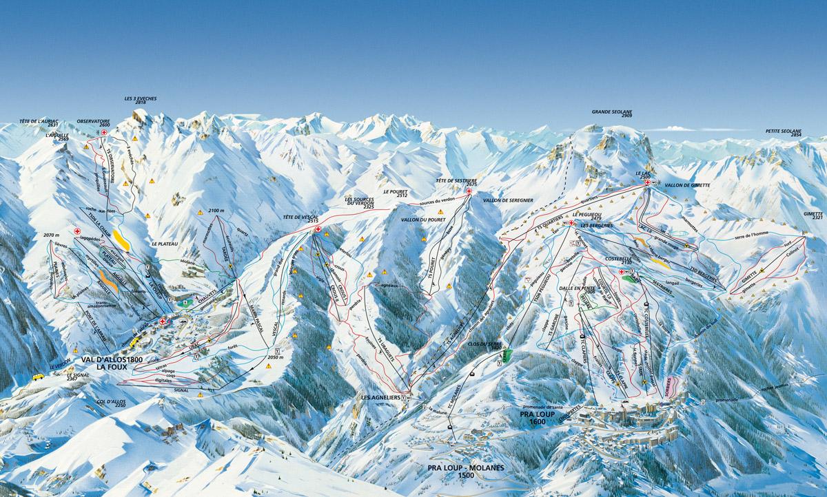 Pra Loup / Val d´Allos - Alpes de Haute Provence