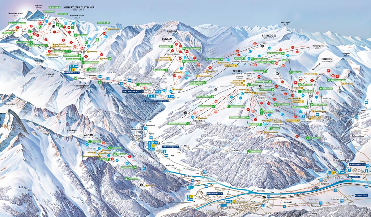 Zillertal 3000 / Hintertux - Tyrolsko