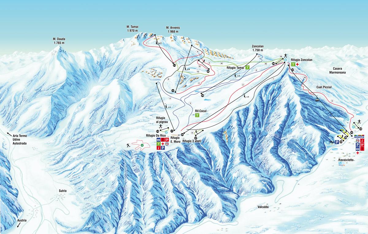 Ravascletto - Zoncolan - Friuli Skiregion