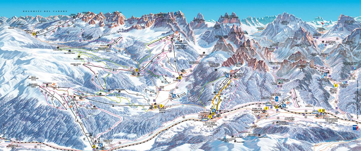 Sextner Dolomiten - Tre Cime Dolomiti - Dolomiti Superski
