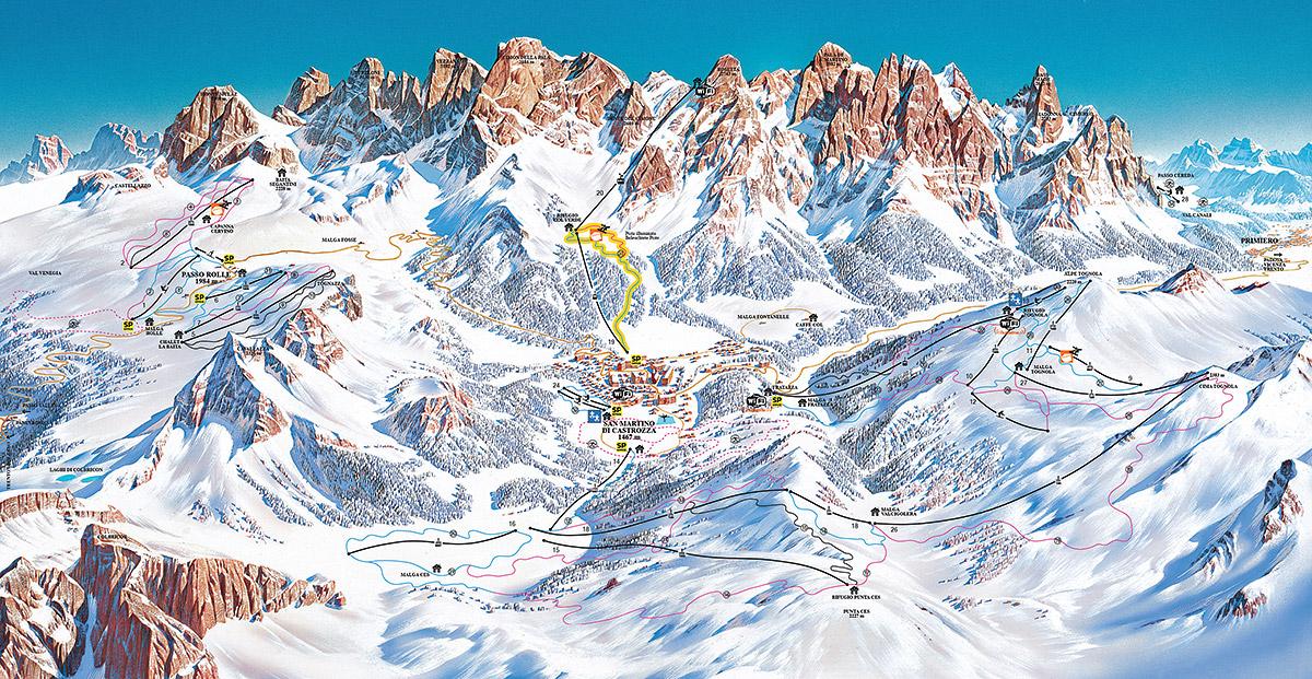 San Martino di Castrozza / Passo Rolle - Dolomiti Superski
