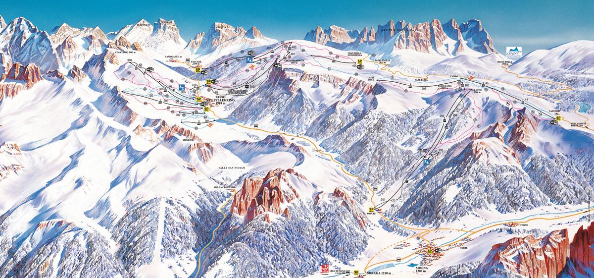 Alpe Lusia / San Pellegrino - Tre Valli - Dolomiti Superski