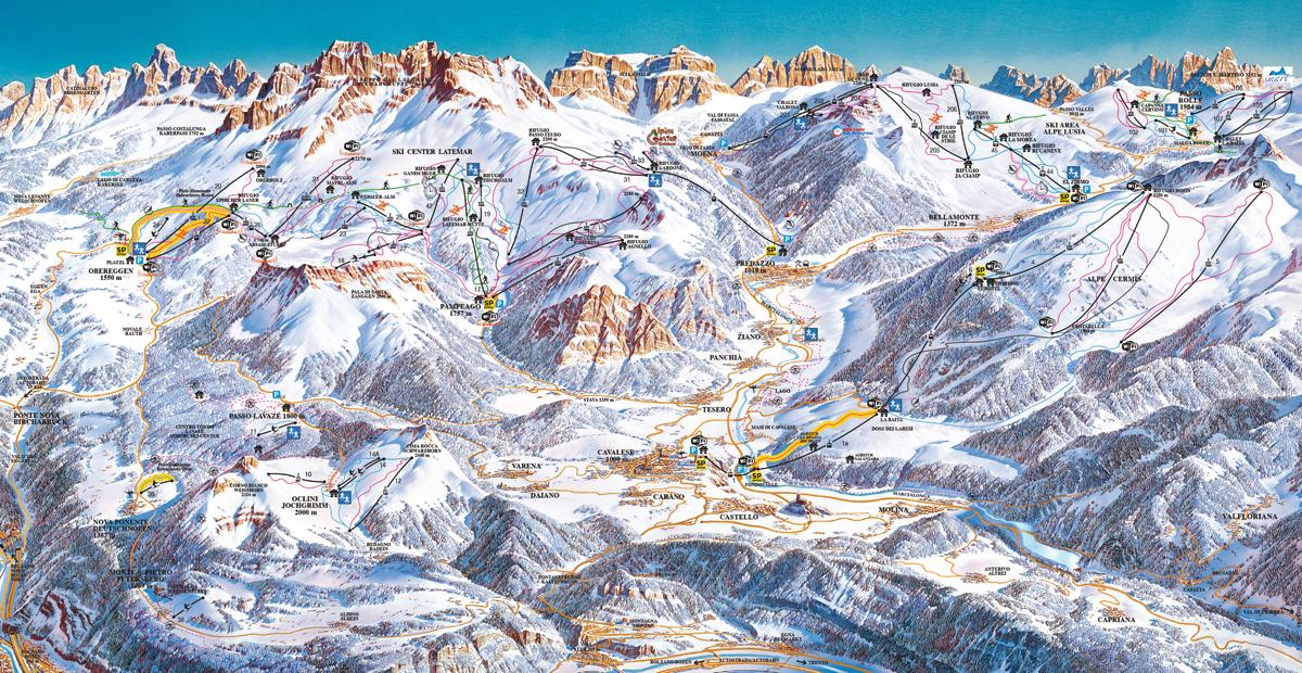Val di Fiemme / Obereggen - Dolomiti Superski