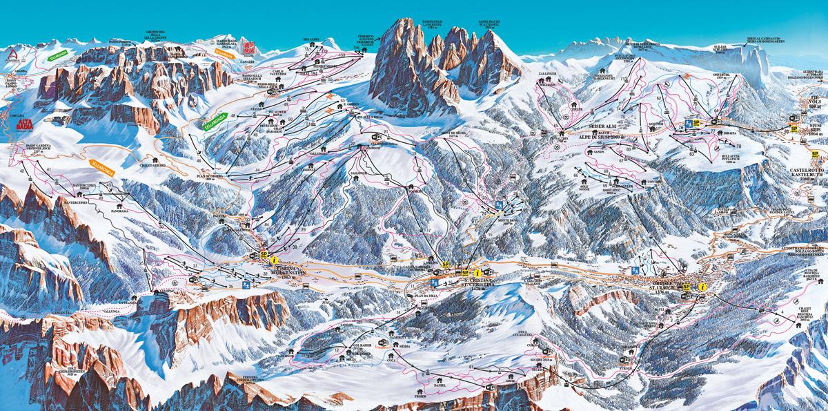 Val Gardena / Alpe di Siusi - Dolomiti Superski